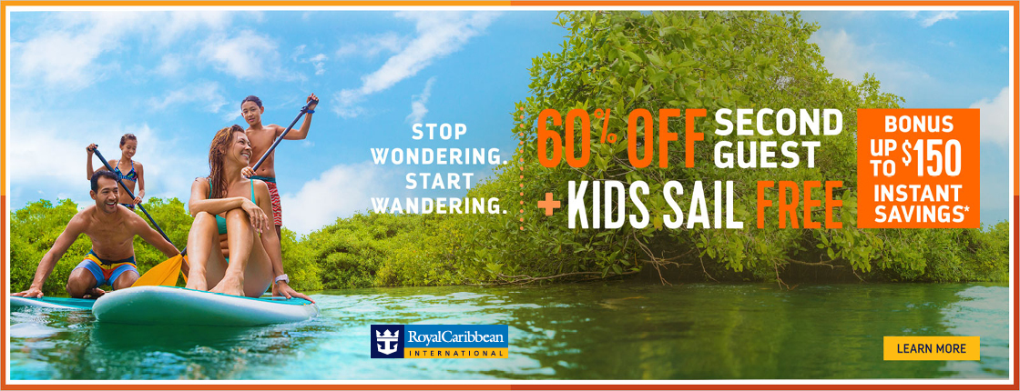 Royal Caribbean Cruise Line | Save 60% on your Second Guest + Enjoy Instant Savings!